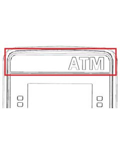 """CURVED MIRROR FOR """"ATM"""" SIGN"""